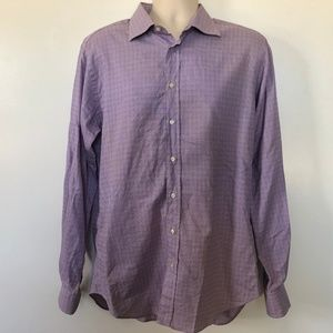 Etro Size 43 XL Mens Dress Shirt Long Sleeve Italy